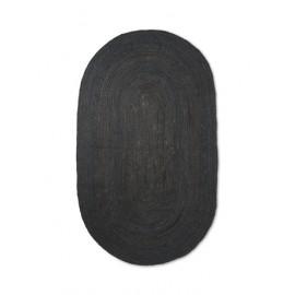 Eternal Oval Jute rug - small/black