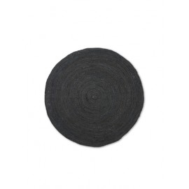 Eternal Round Jute rug - large/black