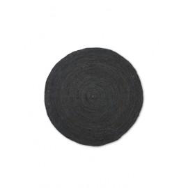 Eternal Round Jute rug - small/black