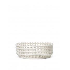 Ceramic centrepiece - off white