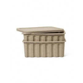 Paper pulp box - small - set of 2