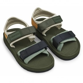 Monty sandals - Hunter green mix