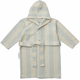 Dana bathrobe - sea blue/sandy