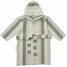Dana bathrobe - garden green/sandy
