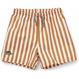 Duke board shorts- mustard/white