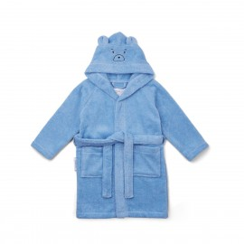 Lily bathrobe - Mr bear sky blue