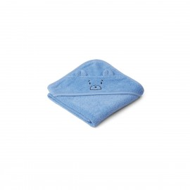 Albert Hooded Baby Towel - Mr bear sky blue