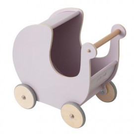 Wooden Doll pram - morning cloud pink
