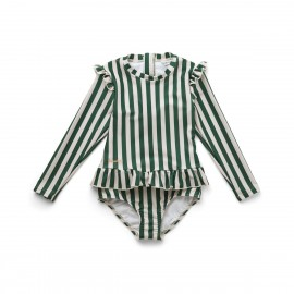 Sille swimsuit - garden green/sandy