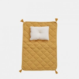Strolley doll bedding - mustard