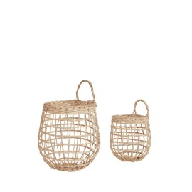 RATTAN ONION BASKET DUO