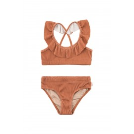WAVES FRILLS SWIM SET