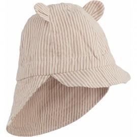 Gorm sun hat- Stripe Tuscany rose/sandy