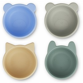 Malene silicone bowls - 4pack - peppermint