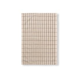 Hale tea towel - sand/black