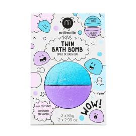 Twin Bathbomb- blue/violet