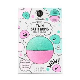 Twin Bathbomb- pink/lagoon