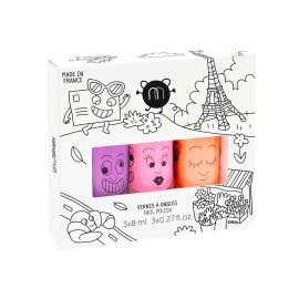 Nail polish set of 3 - Paris Neon