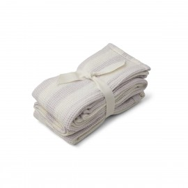 Leah Muslin Cloth- stripe lavender - 2pack