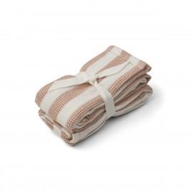 Leah Muslin Cloth- stripe tuscany - 2pack
