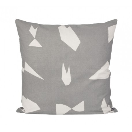 Cut Cushion - grey