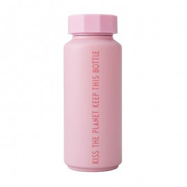 Thermo Bottle - KISS THE PLANET - pink