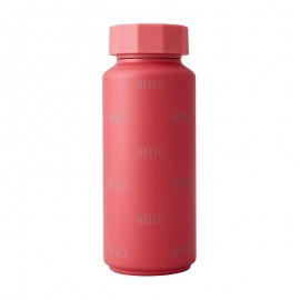 Thermo Bottle - HELLO - dark pink