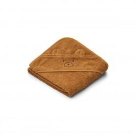Albert Hooded Baby Towel - Mr bear golden caramel