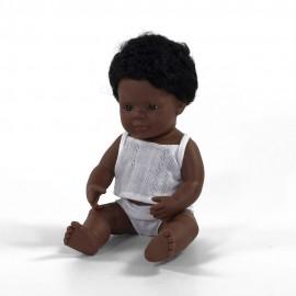 BABY DOLL Afro American BOY 38CM