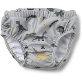 Frej baby swim pants - Dino dove blue