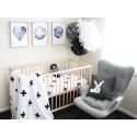 Painted Cross Toddler Duvet Set