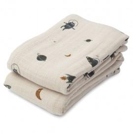 Lewis Muslin Cloth- space - 2pack