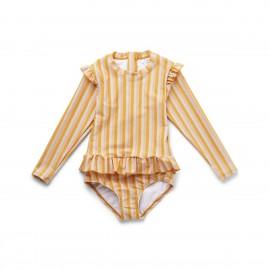 Sille swimsuit - Peach/sandy/yellow