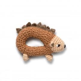 Crochet rattle, Twinkle the hedgehog