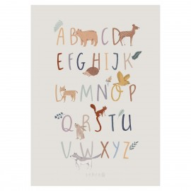 Poster, alphabet A-Z (EN), Nightfall, FSC Mix