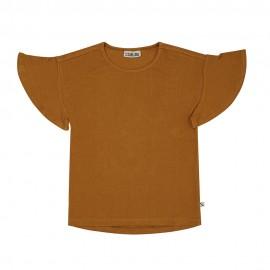 Basics Chipmunk - t-shirt ruffled short sleeve ribbed