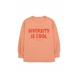 DIVERSITY IS COOL TEE - ROSE/RED