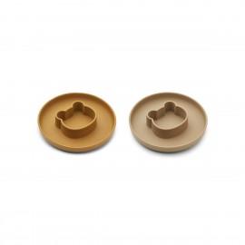 Gordon Plate 2 Pack - Mr bear caramel/oat