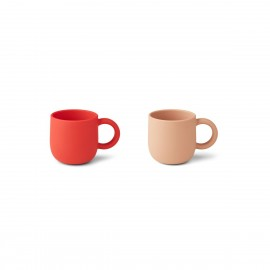 Merce cup 2-pack - Apple red/tuscany rose mix