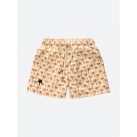 Beige Palm Swim Shorts