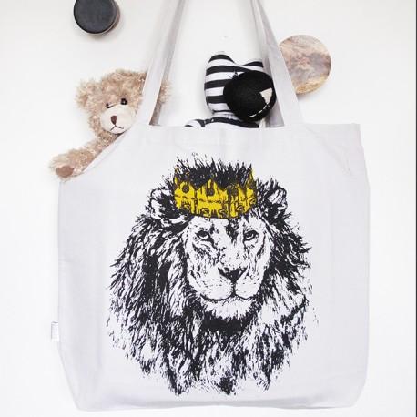 Tote bag Unicorn - Handprinted