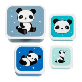 Lunch and Snack Box Set Panda