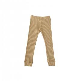Rib leggings - wheat
