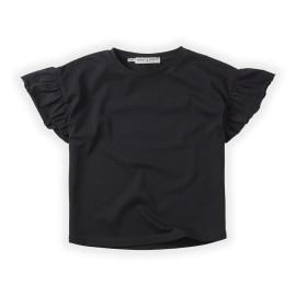 T-SHIRT RUFFLE BLACK