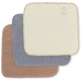 3 pack terry wash cloths - blue