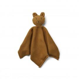 Milo knit cuddle cloth - bear caramel