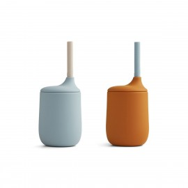 Ellis sippy cup 2 pack - blue/mustard mix