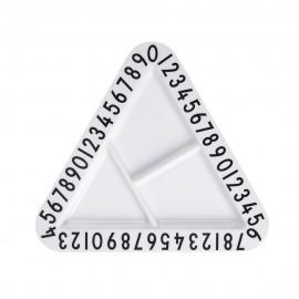 Triangular snack plate- Melamine