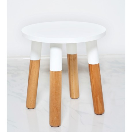 Kids Stool by POMME in white