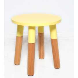 Kids Stool by POMME in yellow